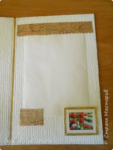 Предлагаю вашему вниманию 2 следующие открытки , декорированные тканью. фото 6