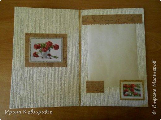 Предлагаю вашему вниманию 2 следующие открытки , декорированные тканью. фото 4