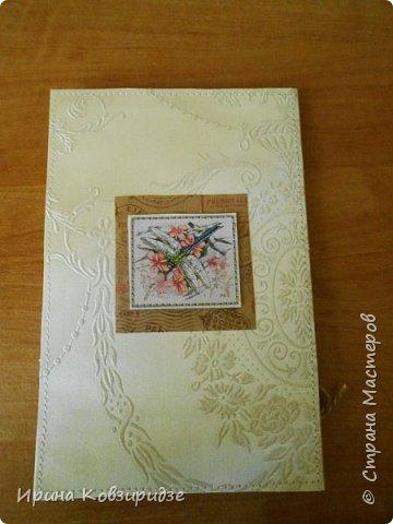 Предлагаю вашему вниманию 2 следующие открытки , декорированные тканью. фото 7