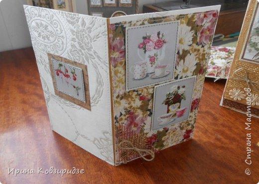 Предлагаю вашему вниманию 2 следующие открытки , декорированные тканью. фото 10