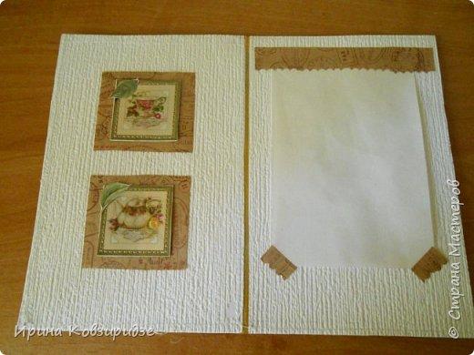 Предлагаю вашему вниманию 2 следующие открытки , декорированные тканью. фото 11