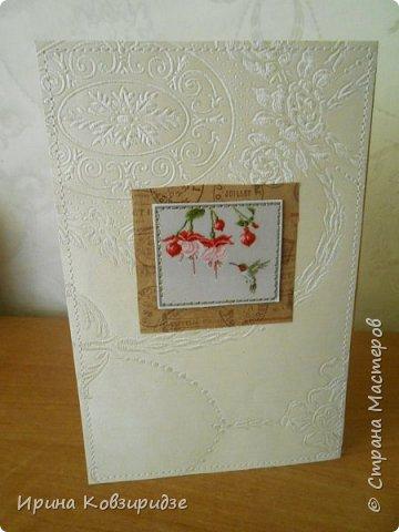 Предлагаю вашему вниманию 2 следующие открытки , декорированные тканью. фото 13