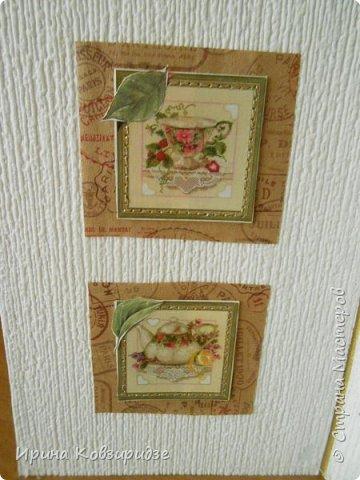 Предлагаю вашему вниманию 2 следующие открытки , декорированные тканью. фото 12