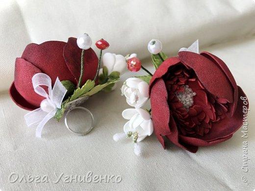 Приветствую всех жителей и гостей прекрасной СТРАНЫ МАСТЕРОВ!! Представляю Вам браслеты и кольца для подружек невесты (заказ). Цветы выполнены из фома, украшены бисером, бусинами и ленточками. фото 5