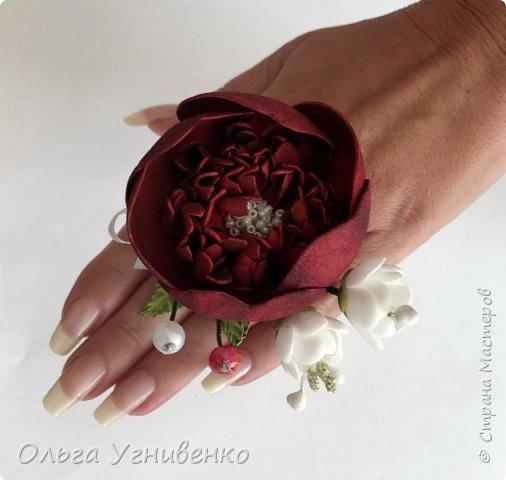 Приветствую всех жителей и гостей прекрасной СТРАНЫ МАСТЕРОВ!! Представляю Вам браслеты и кольца для подружек невесты (заказ). Цветы выполнены из фома, украшены бисером, бусинами и ленточками. фото 4