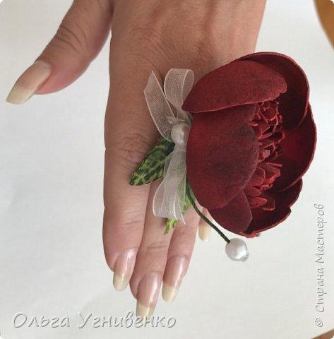 Приветствую всех жителей и гостей прекрасной СТРАНЫ МАСТЕРОВ!! Представляю Вам браслеты и кольца для подружек невесты (заказ). Цветы выполнены из фома, украшены бисером, бусинами и ленточками. фото 6