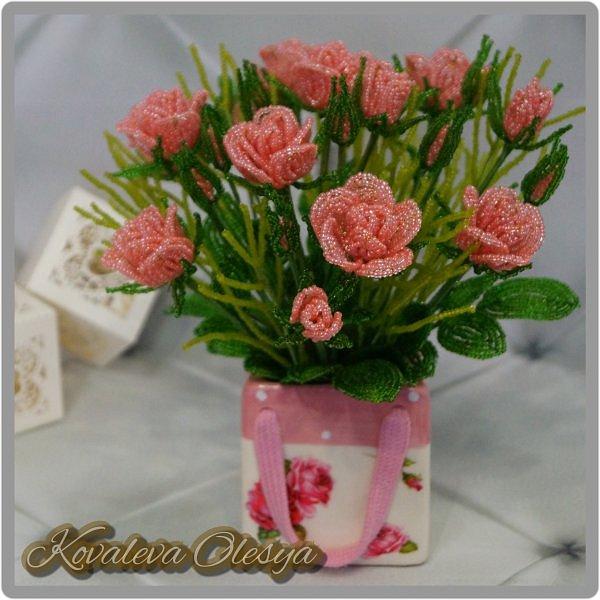 Букет роз в подарочном пакете  фото 3