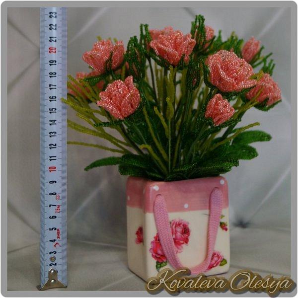 Букет роз в подарочном пакете  фото 6