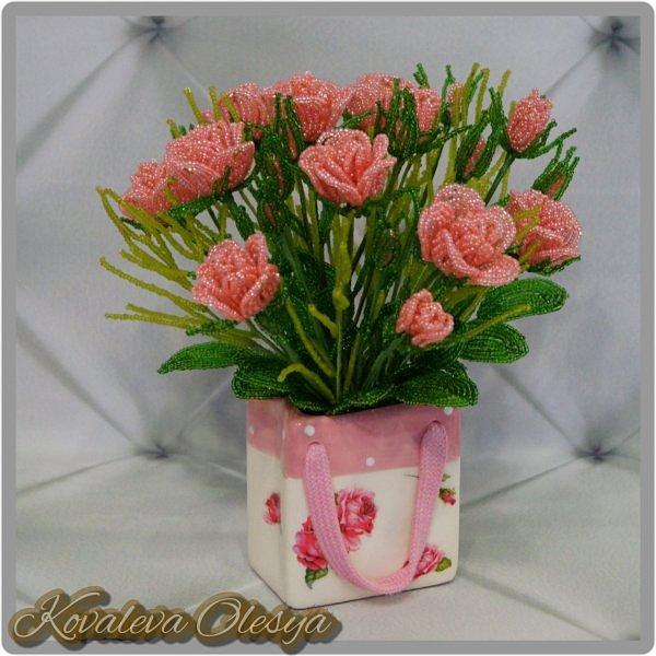 Букет роз в подарочном пакете  фото 2