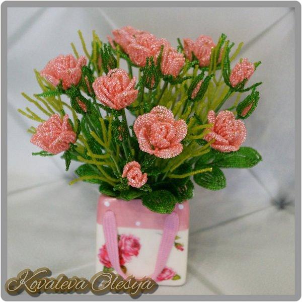 Букет роз в подарочном пакете  фото 1