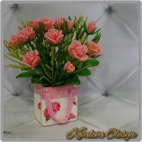 Букет роз в подарочном пакете  фото 4