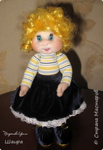 Кукла 30 см. Самостоятельно стоит, сидит, ручки и ножки подвижны на проволоке. Голова, руки из капрона, тело и ножки из ткани.  фото 11