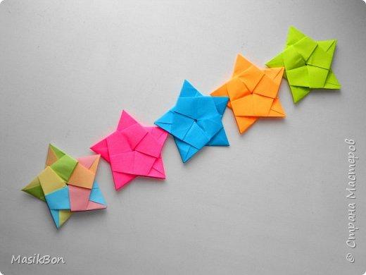 Красивая гирлянда из бумаги. Новогодние поделки оригами своими руками