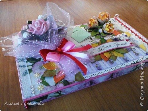 Скоро 1 сентября, решили в этом году подарить нашей учительнице коробку конфет merci. Взяли большую. Долго думали как оформить. Вот что получилось. фото 1