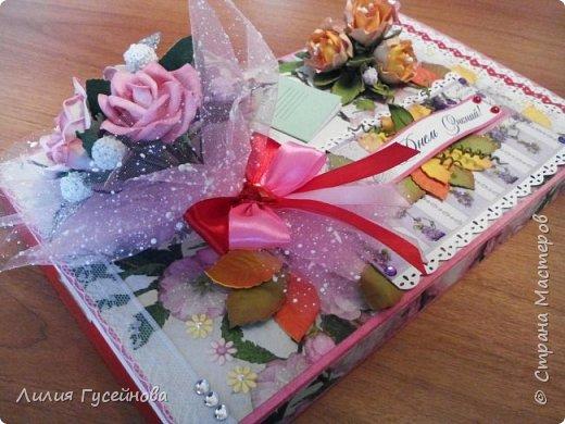 Скоро 1 сентября, решили в этом году подарить нашей учительнице коробку конфет merci. Взяли большую. Долго думали как оформить. Вот что получилось. фото 6