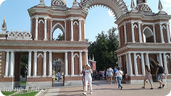 В Царицыно я начала свою экскурсию с оранжерей, их 3 корпуса... Это вид около первого корпуса на улице... фото 78