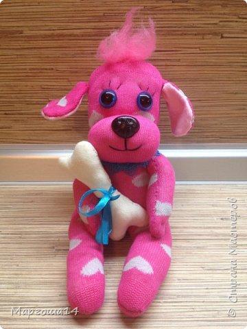 Приветствую всех жителей Страны Мастеров!!! Показываю разные игрушки сшитые из носков. Кошечки - две  подружки. фото 14