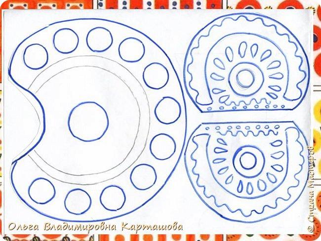 Дымковский петушок из бумаги. Мини-МК  фото 2