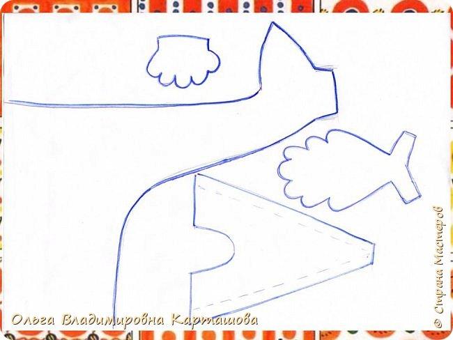 Дымковский петушок из бумаги. Мини-МК  фото 3