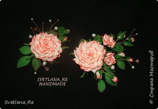 В этих украшениях моя подруга выходила замуж ) Слева - брошь на пояс платья Правее - заколочка в волосы. Она укладывалась плотно по голове с одной стороны фото 1