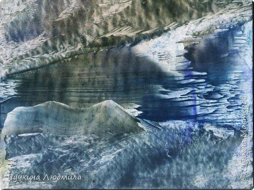 """Извержение вулкана"",  Ф.А.4, картон, утюг, воск,техника - Энкаустика фото 2"