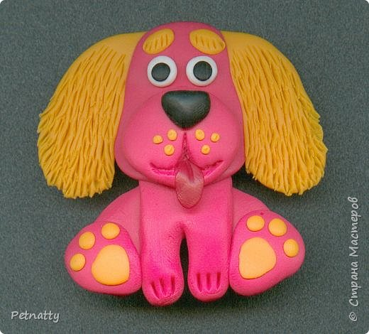 Собачки - магниты на холодильник из запекаемой пластики (цернит). Делала 12 лет назад к новому году (тогда был год красной собаки). фото 8