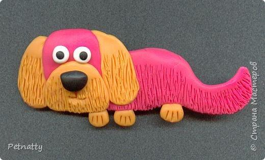 Собачки - магниты на холодильник из запекаемой пластики (цернит). Делала 12 лет назад к новому году (тогда был год красной собаки). фото 9