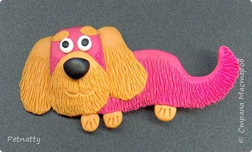 Собачки - магниты на холодильник из запекаемой пластики (цернит). Делала 12 лет назад к новому году (тогда был год красной собаки). фото 10