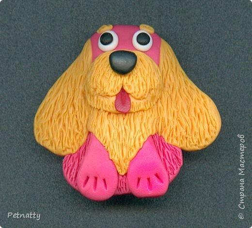 Собачки - магниты на холодильник из запекаемой пластики (цернит). Делала 12 лет назад к новому году (тогда был год красной собаки). фото 13