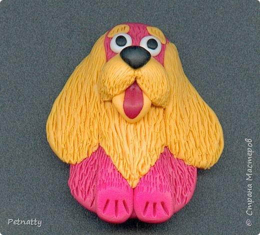 Собачки - магниты на холодильник из запекаемой пластики (цернит). Делала 12 лет назад к новому году (тогда был год красной собаки). фото 16