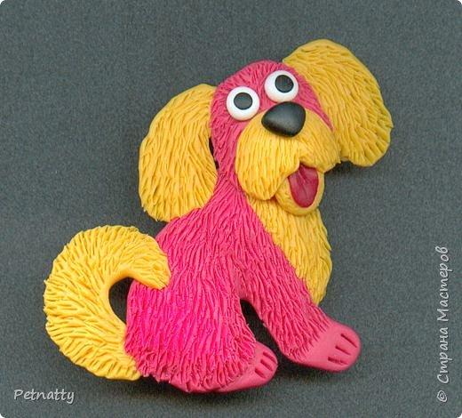 Собачки - магниты на холодильник из запекаемой пластики (цернит). Делала 12 лет назад к новому году (тогда был год красной собаки). фото 17