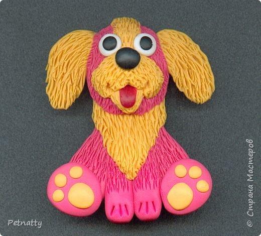 Собачки - магниты на холодильник из запекаемой пластики (цернит). Делала 12 лет назад к новому году (тогда был год красной собаки). фото 18