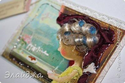 """Привет всем! Сегодня я с АТС серией, которая родилась спонтанно увидев работы мастерицы ИРИСКА 2012 , ее серию """"Счастье"""" (http://stranamasterov.ru/node/1109851). Я вспомнила, что у меня тоже есть 3 такие открыточки с картинками художницы Евгении Гапчинской , их в коробках конфет находят, есть такая серия.... Раньше их крутила-вертела и все не могла понять что с ними делать...видать всему свое время. Ириша спасибо за творческий толчек. фото 6"""