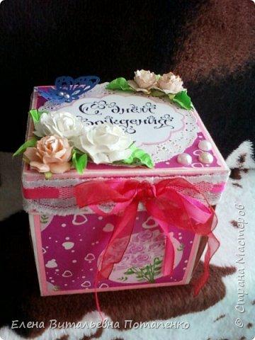 """Новая моя работа в технике """"Скрапбукинг"""" для подарка моей подруге на День рождения! фото 7"""