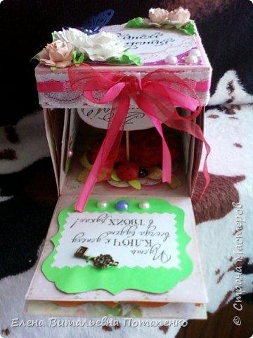 """Новая моя работа в технике """"Скрапбукинг"""" для подарка моей подруге на День рождения! фото 6"""