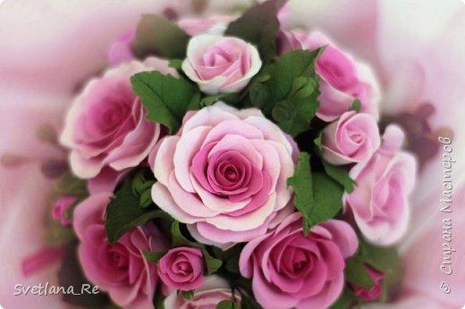 Композиция из роз (зефирка) фото 1