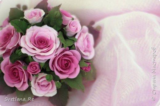 Композиция из роз (зефирка) фото 2