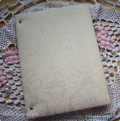 Всем привет!!!! Покажу папку для свидетельства о заключения брака. Делала ее на заказ. фото 5