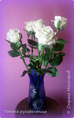 Здравствуй Страна! У меня снова розы из фарфора. фото 2