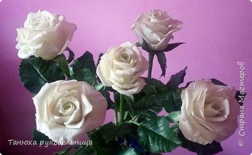 Здравствуй Страна! У меня снова розы из фарфора. фото 3