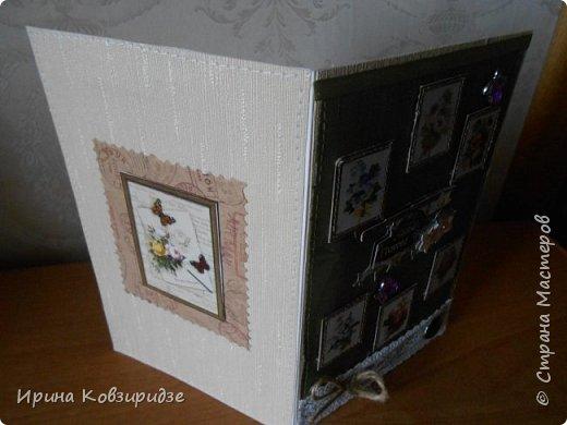 Три открытки. декорированные зелёным шёлком. фото 8