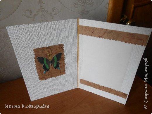 Три открытки. декорированные зелёным шёлком. фото 16