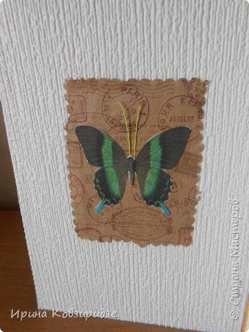Три открытки. декорированные зелёным шёлком. фото 17