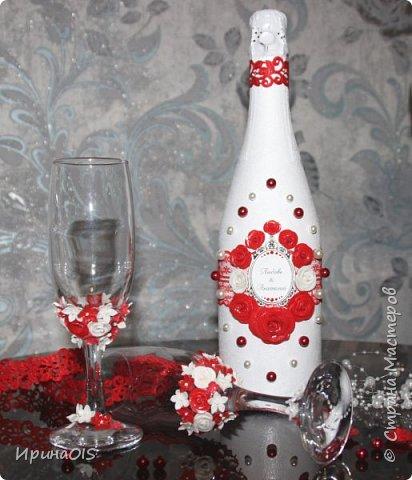 Свадебный набор на годовщину свадьбы в красно-белом цвете фото 4