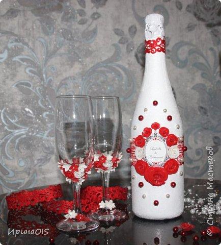 Свадебный набор на годовщину свадьбы в красно-белом цвете фото 1