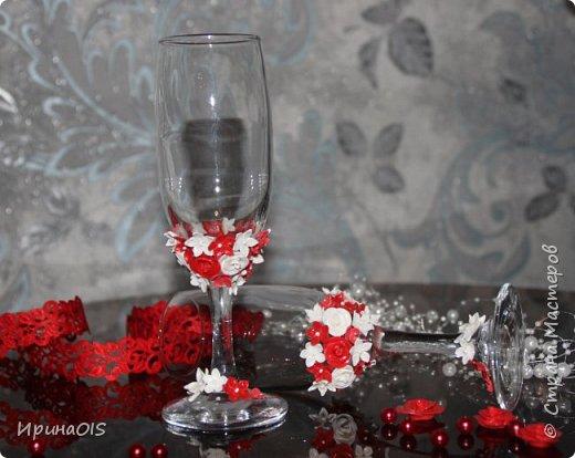 Свадебный набор на годовщину свадьбы в красно-белом цвете фото 3