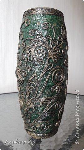 Здравствуйте! Показываю новую вазу под малахит.  фото 9