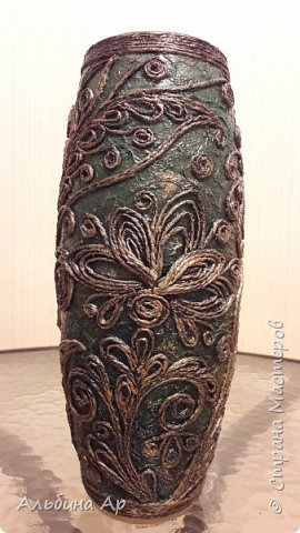Здравствуйте! Показываю новую вазу под малахит.  фото 6