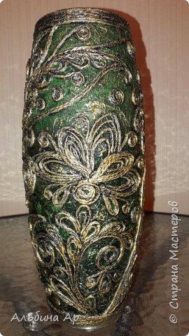 Здравствуйте! Показываю новую вазу под малахит.  фото 7