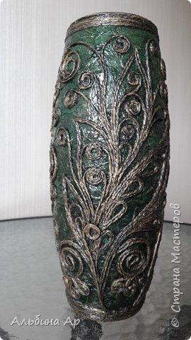 Здравствуйте! Показываю новую вазу под малахит.  фото 8